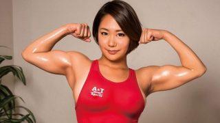 堀越なぎさ 320x180 - 【堀越なぎさ】水泳で鍛え上げられた筋肉ボディーとGカップ巨乳