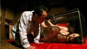 羽月希 300x169 - 【羽月希】巨乳美少女が仕切られたせまい箱に入れられ不自由な生活を…